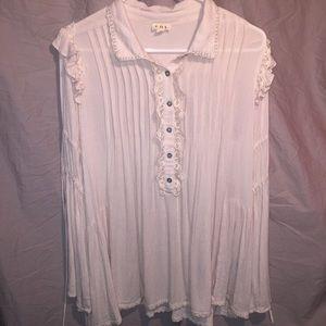 Peasant style renaissance blouse